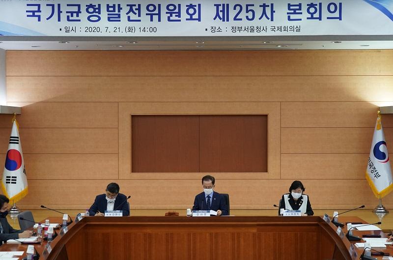 제 25차 국가균형발전위원회 본회의 사진